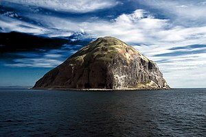 The round Ailsa Craig on the Waverley Paddle S...