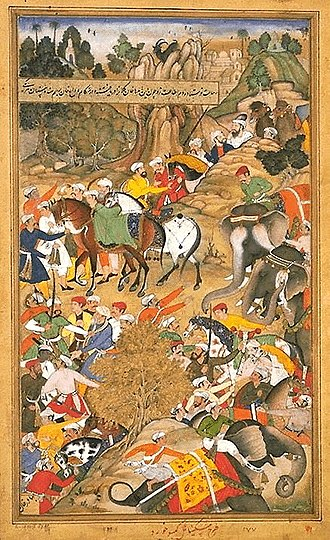 Sirohi State - An episode from the march of the Mughal general, Khan Kilan, through the Kingdom of Sirohi in 1572.