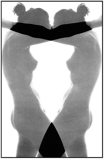 Photography may be used both to capture reality and to produce a work of art. While photo manipulation is often frowned upon in first, then it might be used to great extent in other to produce artistic effects. Nude composition 19 from 1988 by Jaan Künnap. - Photography