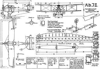 Albatros J.II - Albatros J.II drawing