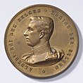Albert Roi des Belges - L'Union Fait la Force, medal by Jacques Marin (1877-1950), Belgium, 1914, Coins and Medals Department of the Royal Library of Belgium, 2Lef 6 - 20 (recto).jpg