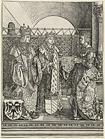 Albrecht Dürer, The Betrothal of Philip the Fair with Joan of Castile, 1515, NGA 47899.jpg