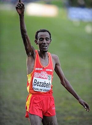 2009 European Cross Country Championships - Image: Alemayehu Bezabeh Dublin 2009
