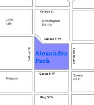 Alexandra Park, Toronto - Image: Alexandra Park map