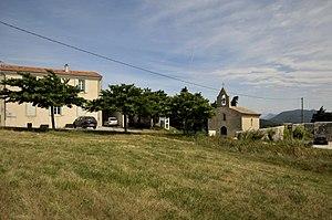 Aleyrac - The town hall and church