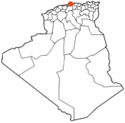 Location map of Algiers.