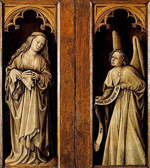 Luís Alimbrot - Annunciation, Museo del Prado, Madrid