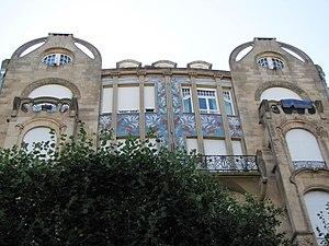 56, Allée de la Robertsau - Upper part with mosaic