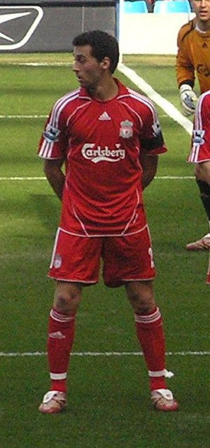 Álvaro Arbeloa - Arbeloa playing for Liverpool in 2007