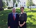 Ambassador Branstad and Acting Deputy Assistant Secretary Stone Visit the White House, 2018 (41249098394).jpg