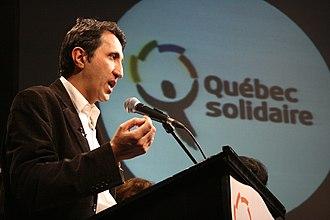 Québec solidaire - Victory speech of Amir Khadir after his election, 8 December 2008
