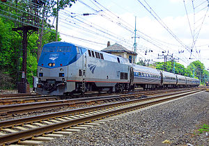 "Pennsylvania Railroad - Amtrak's ""Pennsylvanian"" operates daily runs between New York and Pittsburgh over the former PRR Main Line."
