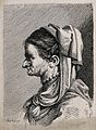 An old woman with a crumpled face, wearing elaborate costume Wellcome V0009448ER.jpg