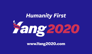 Slogan and logo of Yang's campaign