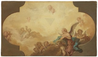 Angels Looking up at the Eye of God. Study