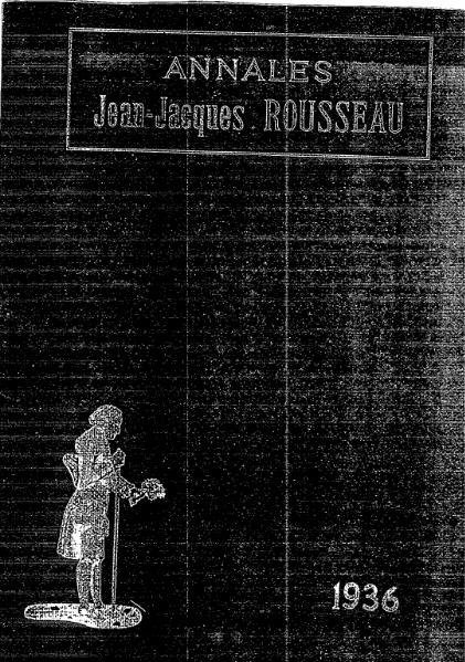 File:Annales de la société Jean-Jacques Rousseau, tome 25.djvu