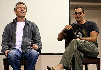 Nicholas Brendon - Brendon with Anthony Stewart Head at the 2004 Oakland Super SlayerCon.