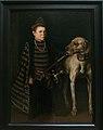 Antonio Moro-Le nain du cardinal de Granvelle tenant un gros chien-1549-53.jpg