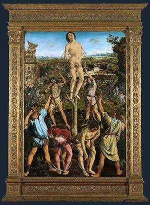 Martyrdom of Saint Sebastian (Piero del Pollaiolo) - Image: Antonio Pollaiuolo 003