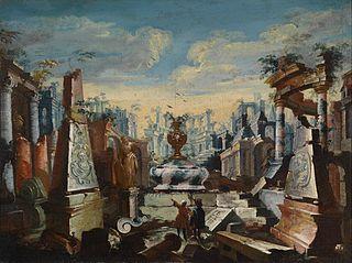 Tow Men Contemplating Ancien Ruins