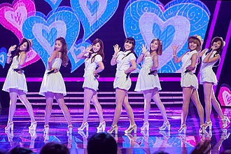 "Apink - Apink performed ""Bubibu"" at Mnet M Countdown Smile Thailand Southeast Asia, 2012."