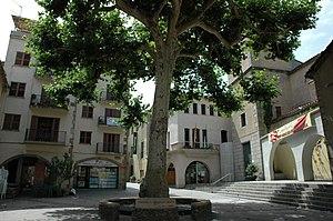 Arbúcies - Main square in Arbúcies