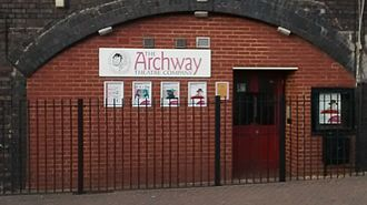 Horley - Entrance to the Archway Theatre, Horley, Surrey, UK.