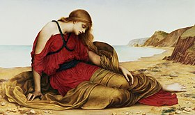Ariadne in Naxos, by Evelyn De Morgan, 1877.jpg