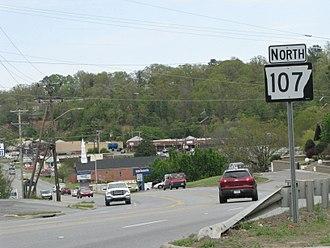 Arkansas Highway 107 - Arkansas Highway 107 in North Little Rock
