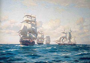 Cumberland (1802 EIC ship) - Image: Armada Chile 1era Escuadra nacional