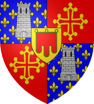 La Tour d'Auvergne - Personal coat of arms of the counts of Auvergne and Boulogne from the House of la Tour d'Auvergne.