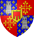 quartered shield of La Tour and Toulouse, with inescutcheon of Auvergne