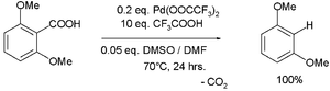 Organopalladium - Aromatic decarboxylation by Palladium(II) trifluoroacetate