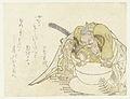 Asashina Saburô probeert een rijstkoek te breken-Rijksmuseum RP-P-1962-333.jpeg