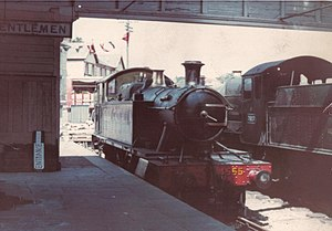 Ashburton railway station - The station as the terminus of the Dart Valley Railway in 1969.