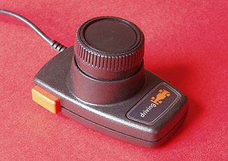 Paddle (game controller) - A driving controller for the Atari 2600, similar in appearance to the Atari 2600 paddles.