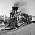 Atchison, Topeka, and Santa Fe, 'Cyrus K. Holliday' Locomotive No. 1 with Tender, Left Side (15467097800).jpg