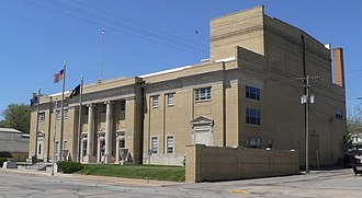 National Register of Historic Places listings in Atchison County, Kansas - Image: Atchison County Memorial Hall from SE 1