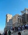 Athen, Akropolis, Propyläen, Sockel des Agrippa 2015-09.jpg