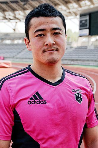 Atsushi Hiwasa - Atsushi Hiwasa during the Stade Français training session held at Stade Charléty, Paris on 3 April 2012