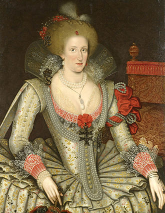 Anne of Denmark - Anne of Denmark, c. 1614, by Marcus Gheeraerts the Younger