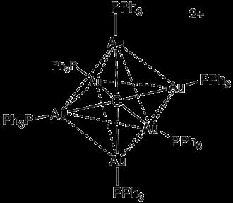 Carbide - Image: Au 6C(P Ph 3)6