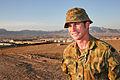Australian Army Maj. Christopher Sampson, a military engineer, poses for a photo Nov. 20, 2013, at Multinational Base Tirin Kot, Afghanistan 131120-O-ZZ999-024-AU.jpg