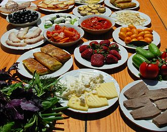 Azerbaijani cuisine - Image: Azerbaijan Light snack