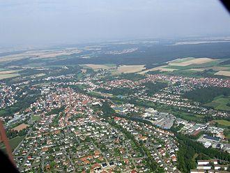 Büren, Westphalia - Aerial view from the south of Büren