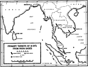 A black and white map of eastern India, Sri Lanka and South East Asia. Most of the cities depicted on the map are marked with bomb symbols.