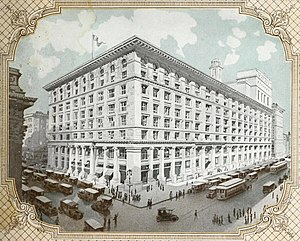 B. Altman and Company - Lithograph of flagship Fifth Avenue store circa 1915
