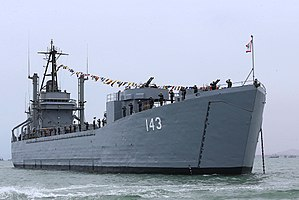 USS Washoe County (LST-1165) - Image: BAP Callao (DT 143)