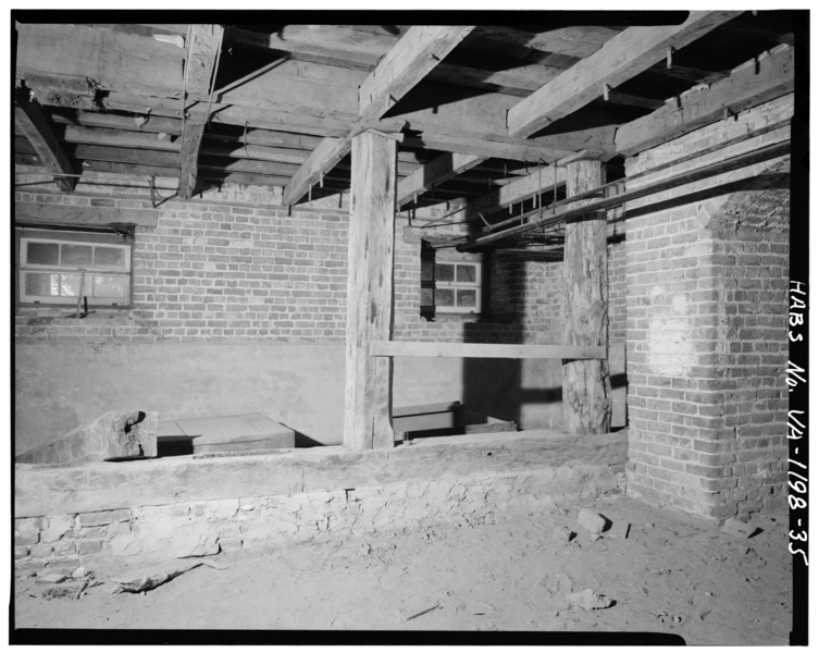 File:BASEMENT - VIEW INSIDE EAST ROOM OF MAIN BLOCK - Blandfield, U.S. Route 17 and State Route 624, Caret, Essex County, VA HABS VA,29-CAR.V,1-35.tif