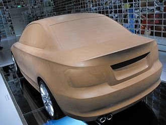 Modelling clay - Industrial clay: a clay model of a BMW